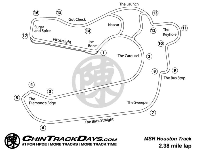 MSR Houston Track Map