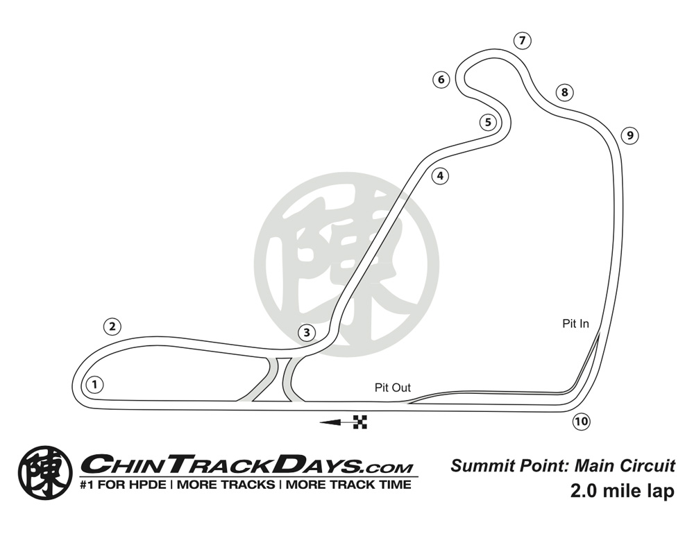 Summit Point Motorsports Park Track Map