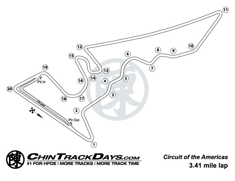 Circuit of the Americas (COTA) Track Map