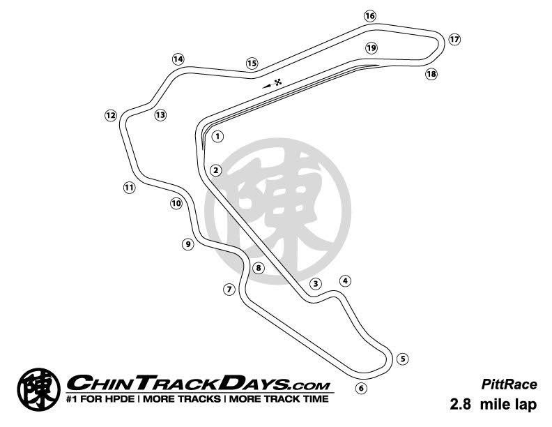 Pitt Race Track Map