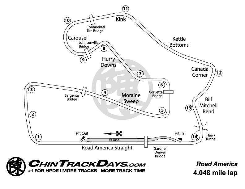 Road America Track Map Road America | Chin Track Days