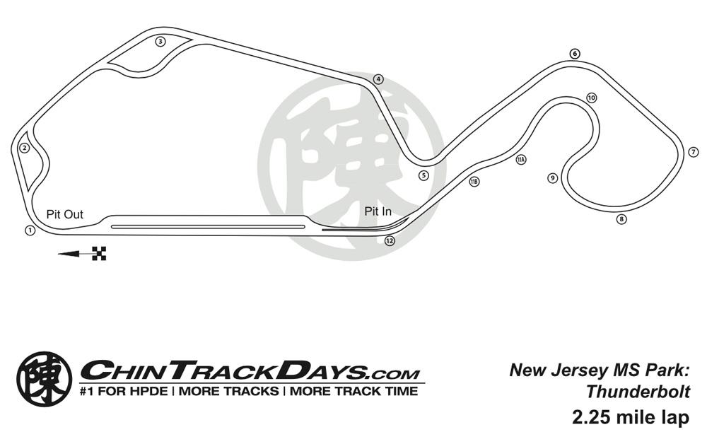 NJMP Thunderbolt Track Map